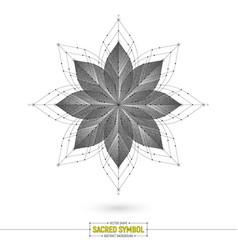 Esoteric mandala art vector