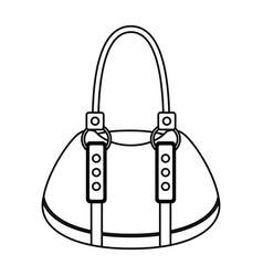 Femenine bag isolated icon vector