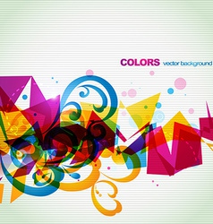 funky abstract eps10 design vector image vector image
