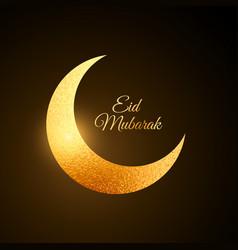 Golden eid festival moon background vector