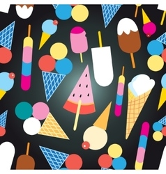 Graphic design colorful ice cream vector image vector image