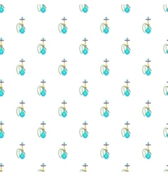 Hookah pattern cartoon style vector