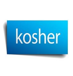 Kosher blue paper sign on white background vector