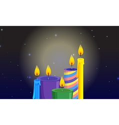 Light coming from candles vector