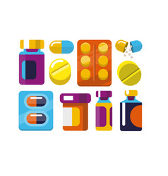 pill and tablets vector image vector image