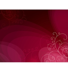 Red background with decorative lines ans squiggle vector