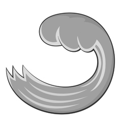 Round wave icon cartoon style vector image