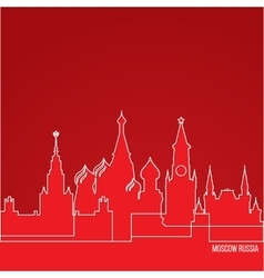 Russia Moscow Concept for web banner One line vector image vector image