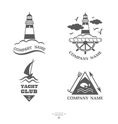 Set of yacht club logos vector image vector image