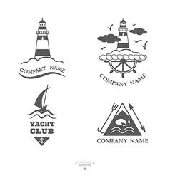 Set of yacht club logos vector