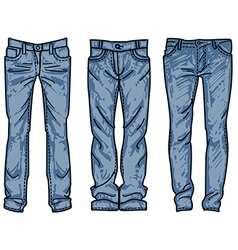 Sketch mens jeans fashion jean vector
