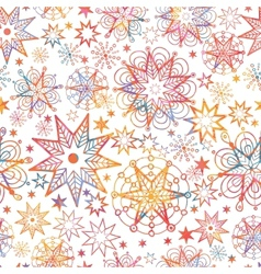 Textured Christmas Stars Seamless Pattern vector image