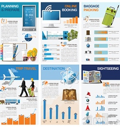 Travel and journey chart diagram infographic vector