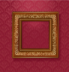 Vintage wallpaper frame vector