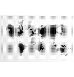World map black dots atlas composition eps10 file vector