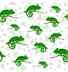 Seamless pattern with chameleons vector