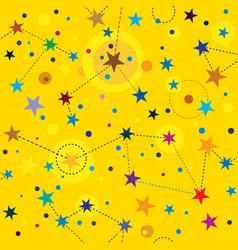 Golden stars seamless pattern swatch background vector