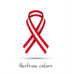 Modern colored ribbon with the austrian colors vector