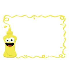 Funny mustard frame vector