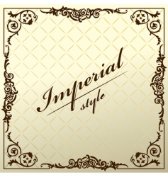 vintage old frame decorative background vector image