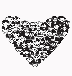 Heart people vector