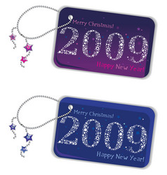 New year trinket tags 2009 vector