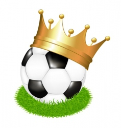 Soccer ball with crown vector