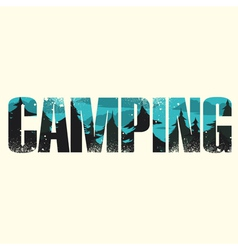 Camping sign vector
