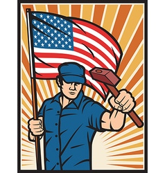 Usa worker holiday vector
