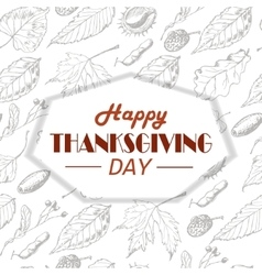 Thanksgiving background with leaves and vector