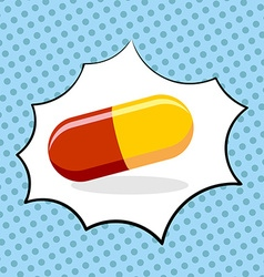 Medicine pill pop art medicinal drugs vector