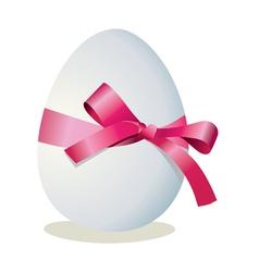 ribbon egg vector image
