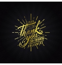 Thank you - typographic calligraphic lettering vector
