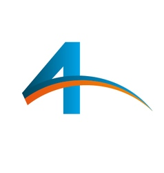 4 logo device vector image