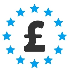 Pound stars flat icon symbol vector