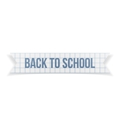 Back to school greeting text on paper ribbon vector