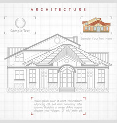 architectural plan of building vector image vector image