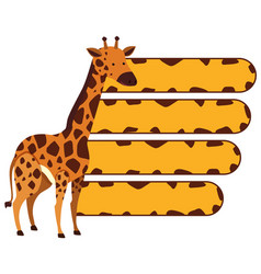 Banner template with wild giraffe vector