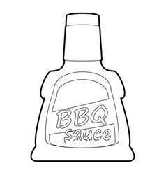 Barbecue sause icon outline vector