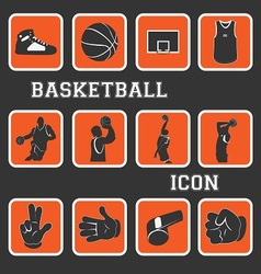 basketball pictogram vector image vector image