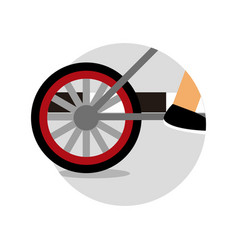 bicycle riding emblem sport graphic vector image