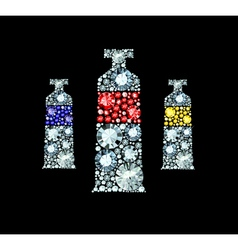 Diamond Paint Tubes vector image