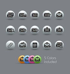 E mail Icons Pearly Series vector image vector image