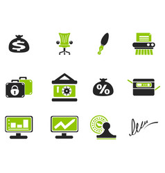 Finance icon set vector