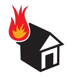 Fire in the house3 resize vector image