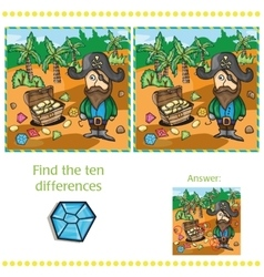 Game for children - find ten differences vector image