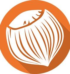 Hazelnut icon vector