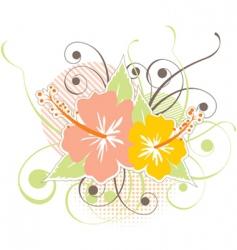 Hibiscus design vector