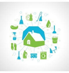 House cleaning concept vector