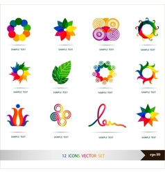 Icons set Design elements set art vector image vector image